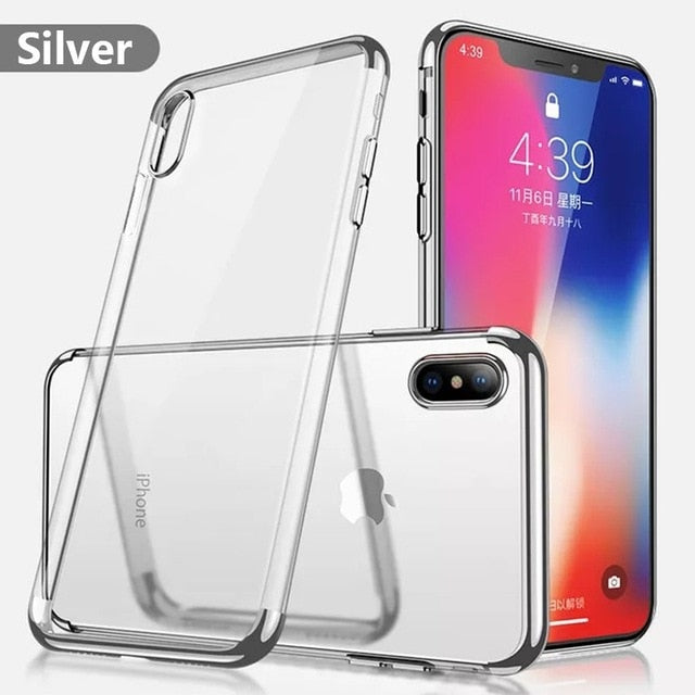 Luxury Transparent Ultra thin Case For iPhone XS MAX XR Case