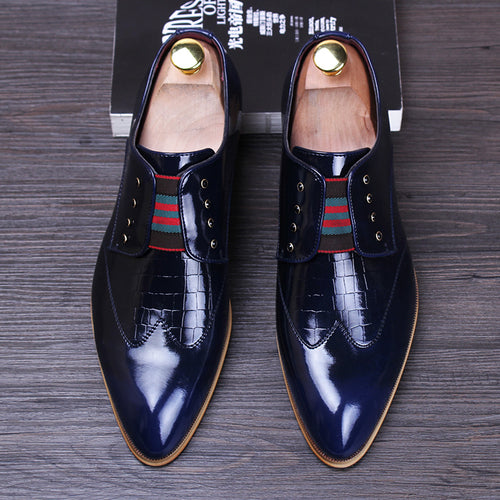 Luxury Men Wedding Shoes Patent Leather