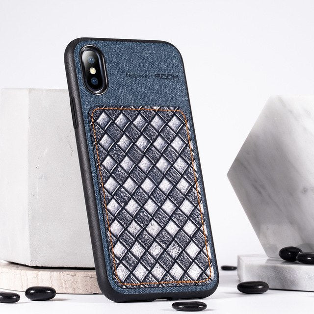 Luxury PU Leather Pattern Phone Case For iPhone XR