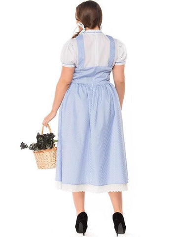 Plus Size Halloween Long Maid Dress