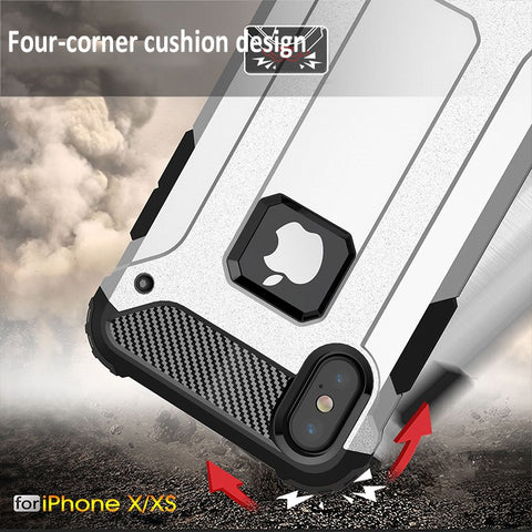Strong Armor Shockproof Phone Case for iPhone XR