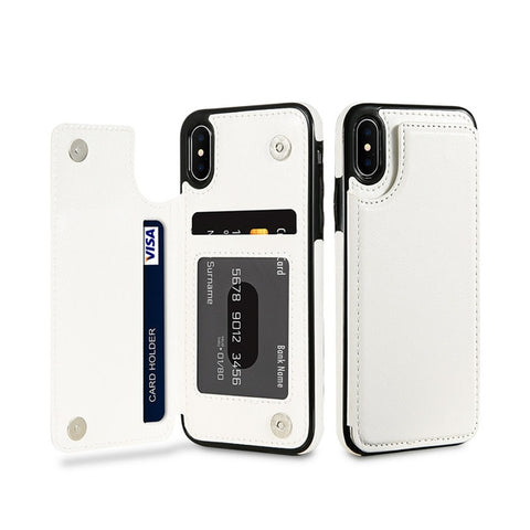 Retro Flip Leather Case For iPhone XS