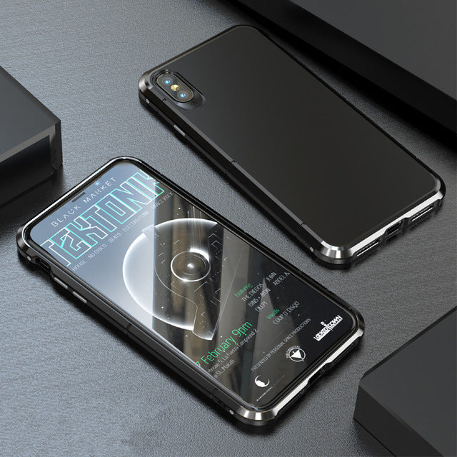 3in1 Shockproof Aluminum Metal Bumper + PC Slim Hard Back Cover Case For iPhone XR