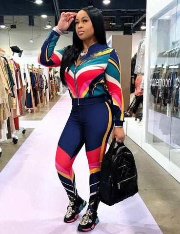 Plus Size Two Piece Outfits Tracksuits