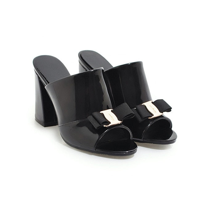 Peep Toe Party Bow Women Shoes