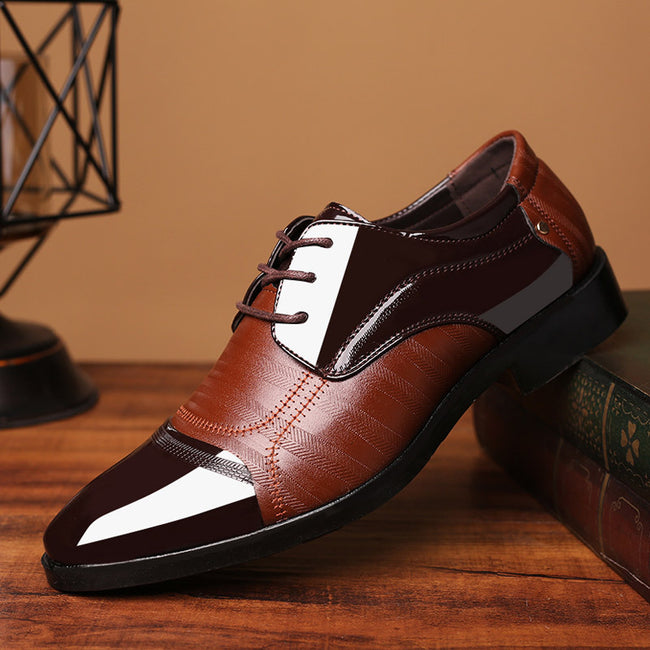 Pointed Toe Lace-up Flat Formal Shoes