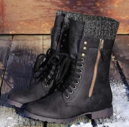 Low Heels Lace-up Martin Ankle Boots