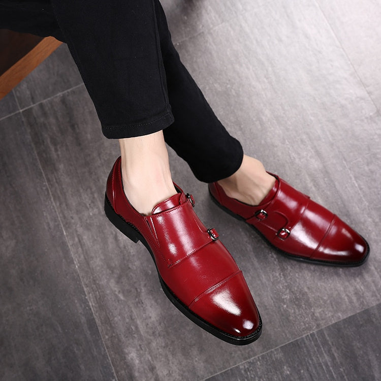 Belt Buckle Pointed Toe Business Formal Shoes