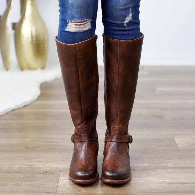 Zipper Daily Vintage Boots