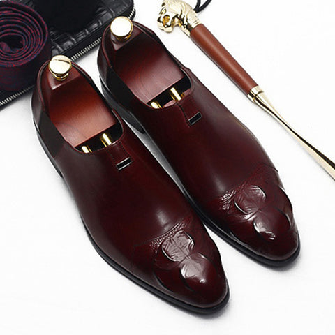 Handmade Alligator Height Increasing Comfortable Loafers