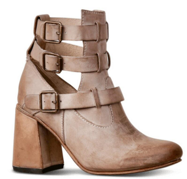Chunky High Heels Ankle Boots