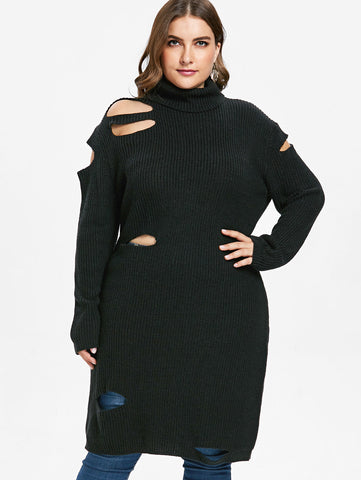 Plus Size Patchwork Semi-Sheer Mesh T-shirt