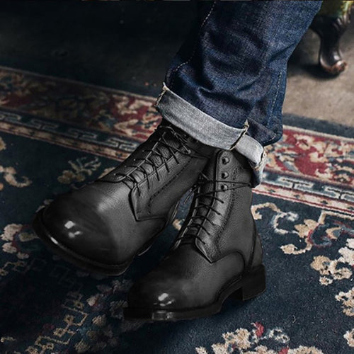 Lace Up Warm Rivet British Martin Boots