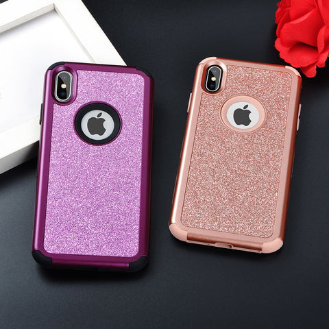 Glitter Solid Color Phone Case For iPhone X XS XR XS Max