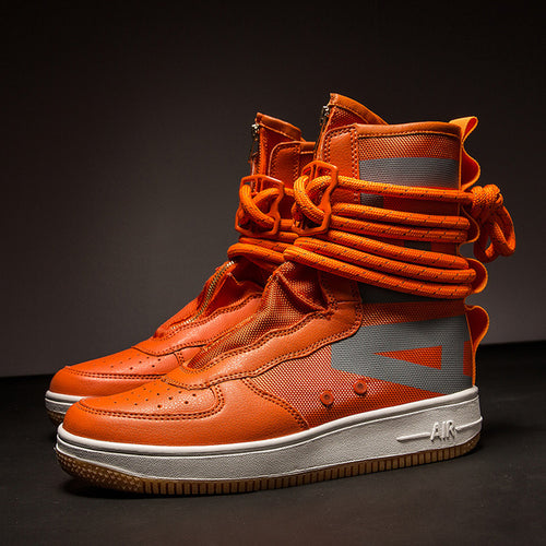 Hip Hop Casual Breathable  Men Boots High Top