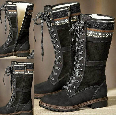 Winter Snow Warm Low Heel Knee High Boots