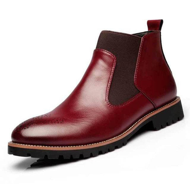 British Style Comfortable Chelsea Boots With Fur