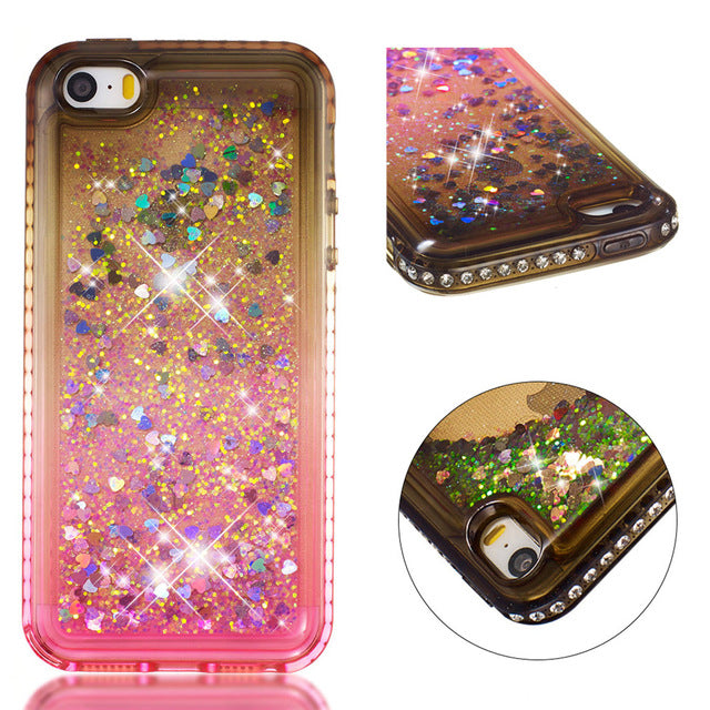 Luxury Glitter Quicksand Soft Silicone Case For iPhone X XR Xs Max