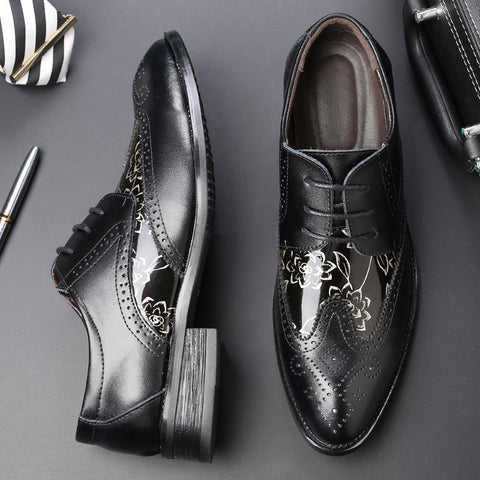 Luxury Brogue Flats Dress Shoes