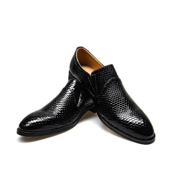 Business Men Shoes Pointed Toe Pure Color