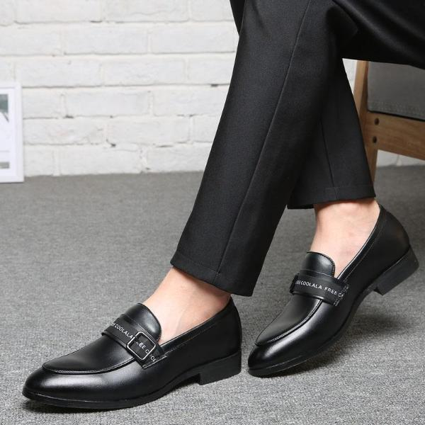 Casual Men Shoes Pointed Toe Slip-On Solid Color