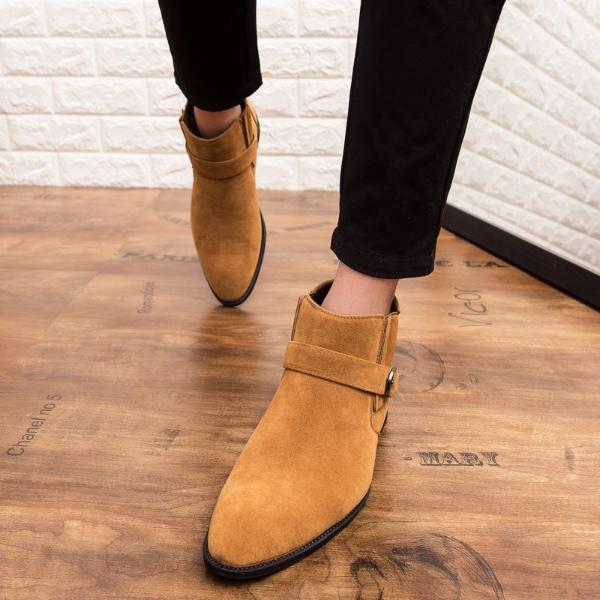 Big Size Casual Men Ankle Shoes  Solid Color