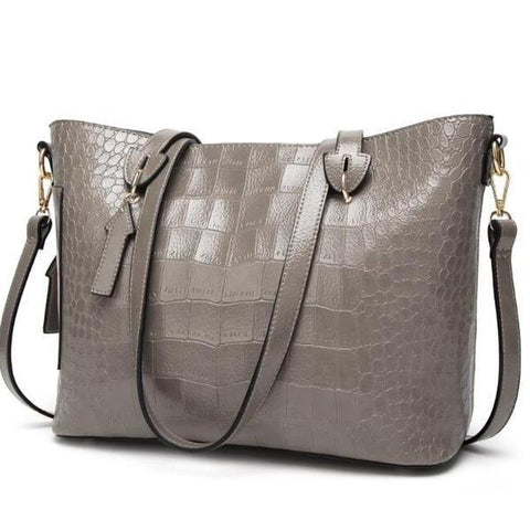 Women Shoulder And Crossbody Bag Leather Solid Color