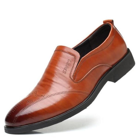 Fashion Big Size Men Leather Shoes Pointed Toe