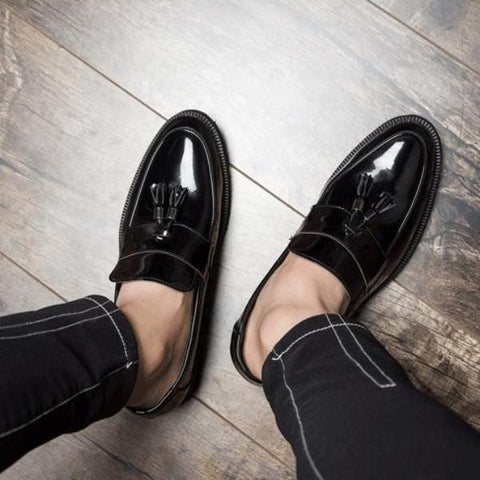 Casual Men Shoes Tassels Low Heel Slip-On