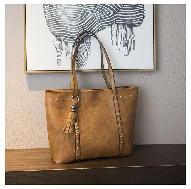 Women Handbag Casual Tassel Shoulder Bag