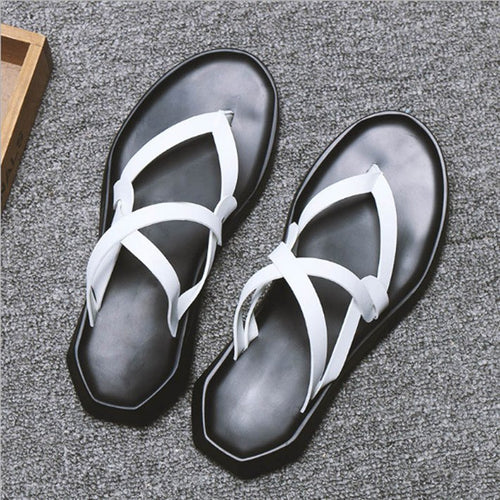 New  Leisure High Quality Cross-tied Fashion Male Sandals