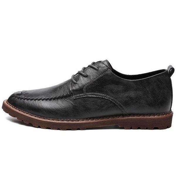 Big Size Casual Men Leather Shoes Lace-Up Split Leather