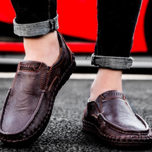 Casual Male Flat Loafer Anti-Skid Solid Pattern