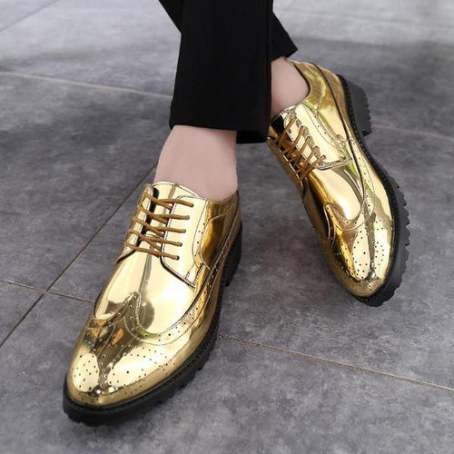 Loosesize Fashion Patent Leather Shoes