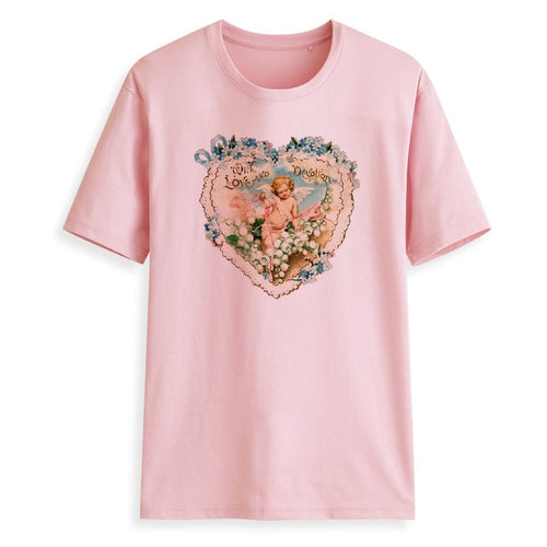 Plus Size Women T-Shirt Short Sleeves Angel