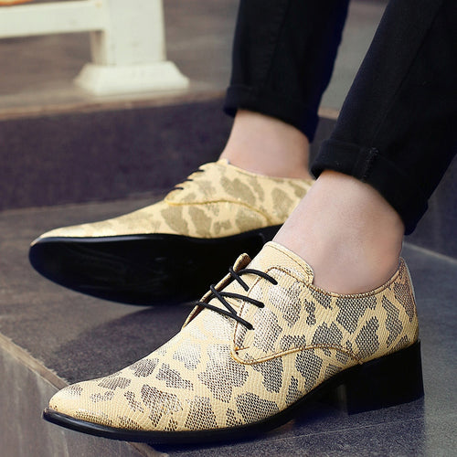 Formal Artificial Leather Shoes Pointed Toe Height Increasing