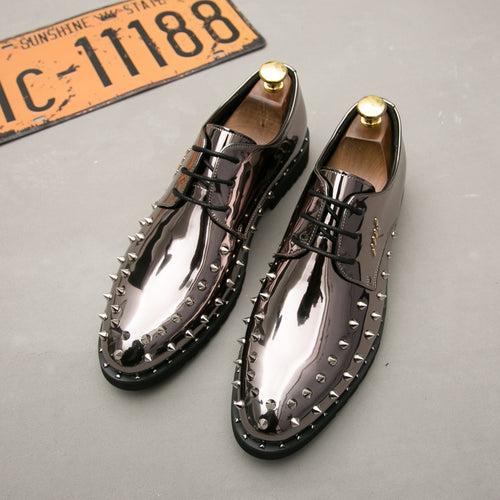 Rivet Fashion Dress Shoes Pointed Toe Men Party Oxfords