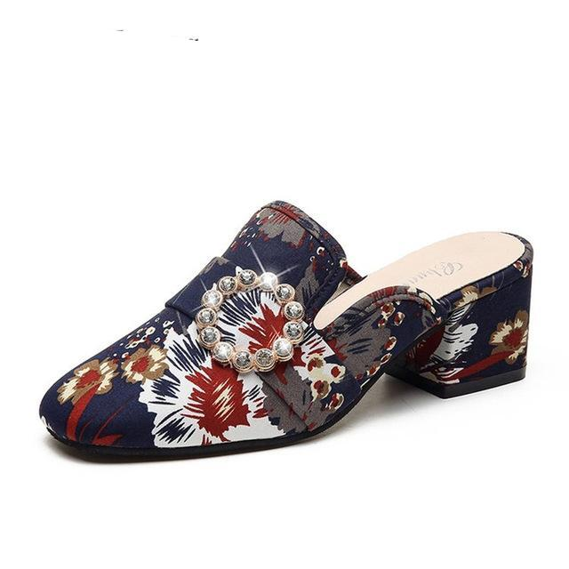 Fashion Women Retro Mules  Casual Shoes