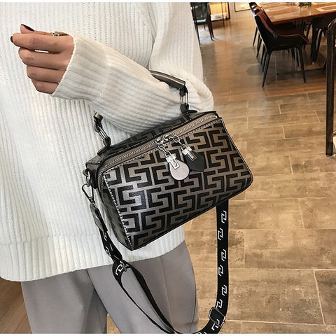Casual Alligator Foldable Handbags Large Capacity Solid Color