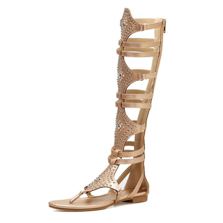 New Golden Black Casual Women Gladiator Sandals
