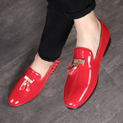 Men Casual Patent Leather Shoes