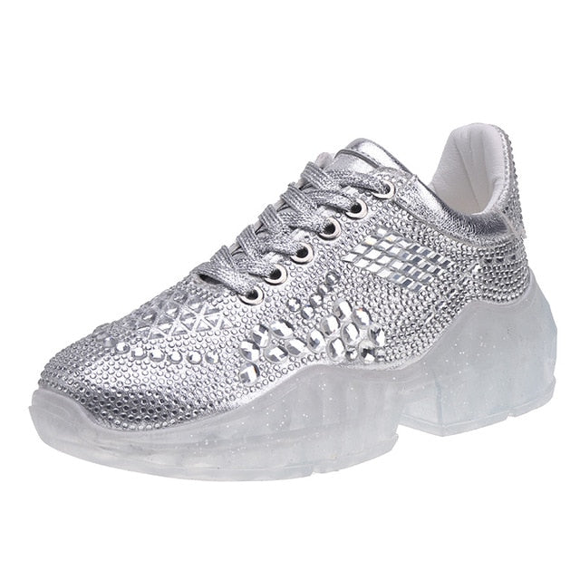 Women Bling  Fashion Crystal Casual Shoes