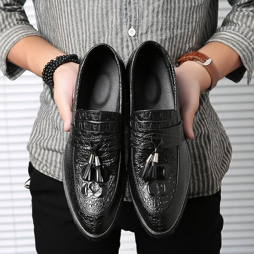 Men Casual Tassels Leather Shoes