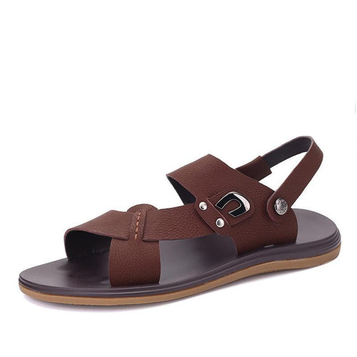Summer Men Sandals Genuine Leather Shoes