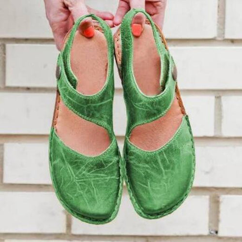 Flats Casual Ladies Leather Summer Sandals