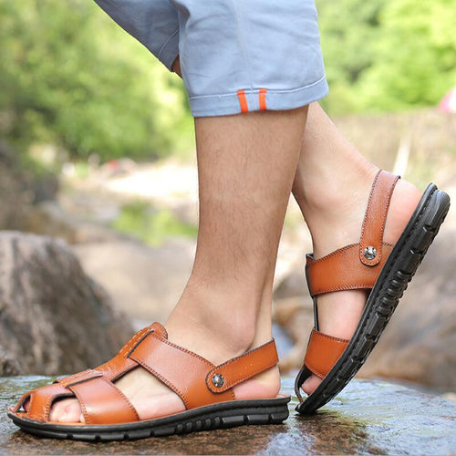 Men Casual Gladiator Slip On Flats