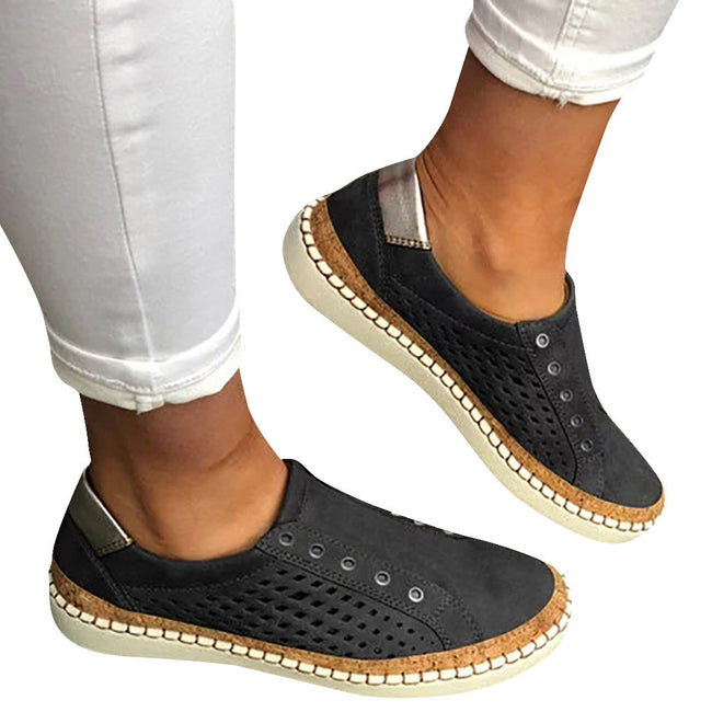 Fashion Casual Breathable Round Toe Slip On  Women Shoes