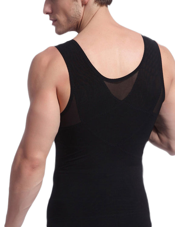 Remarkable Results Crossover Slimming Male Tank Top Pull Back High Quality