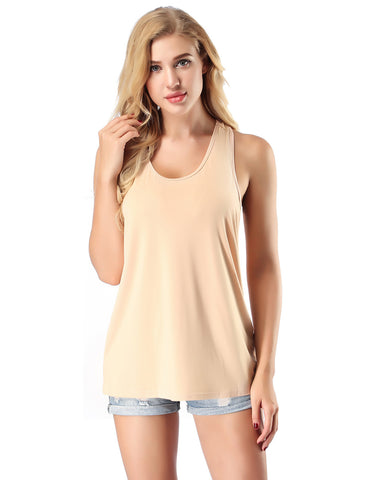 Romans No Sleeves Bamboo Top High Elasticity Female Charm