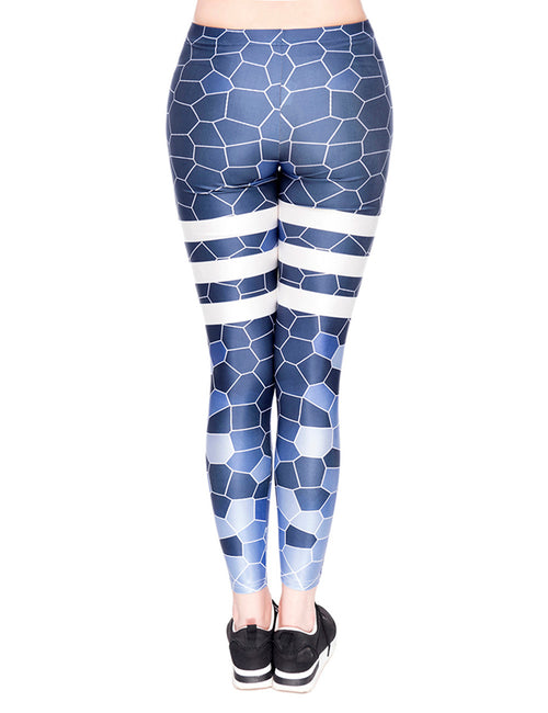 Royal Moisture Wicking Print Yoga Tights Women's Fashion